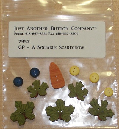 Just Another Button Company Button Small Pumpkin Leaf 2277.s